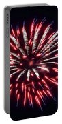 Red White And Blue Fireworks Portable Battery Charger