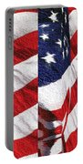 Red White Blue - American Stars And Stripes Portable Battery Charger