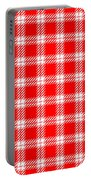 Red White Tartan Portable Battery Charger