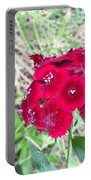 Red Wild Flowers Portable Battery Charger