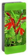 Red Wildflower Portable Battery Charger