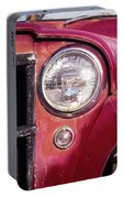Red Willys Jeep Truck Portable Battery Charger