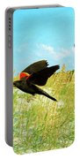 Red-winged Blackbirds Portable Battery Charger
