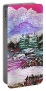 Red Winter Berries Portable Battery Charger
