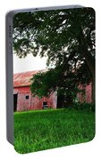 Red Wood Barn Portable Battery Charger