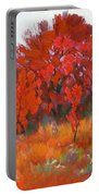 Red Woods Painting Portable Battery Charger