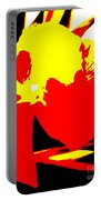 Red Yellow Abstract Portable Battery Charger