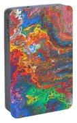 Red Yellow Blue Abstract Portable Battery Charger