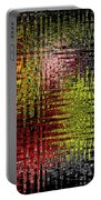 Red Yellow White Black Abstract Portable Battery Charger
