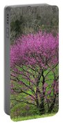 Redbud And Field In Jefferson County Portable Battery Charger