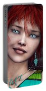 Redhead Portable Battery Charger by Jutta Maria Pusl