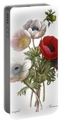 Redoute: Anemone, 1833 Portable Battery Charger