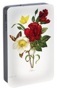 Redoute: Hellebore, 1833 Portable Battery Charger