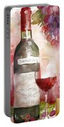 Redwinewatercolor Portable Battery Charger