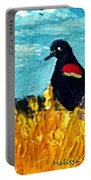 Redwing Blackbird In Minnesota Field Portable Battery Charger