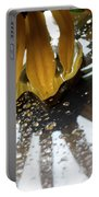 Reflected Yellow Petals Portable Battery Charger