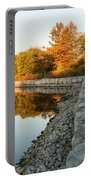Reflecting On Autumn - Gray Rocks Highlighting The Foliage Brilliance Portable Battery Charger