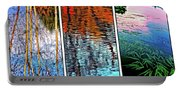 Reflecting On Autumn - Triptych Portable Battery Charger