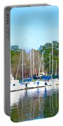 Reflecting The Masts - Watercolor Style Portable Battery Charger