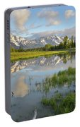 Reflection In Snake River At Grand Teton Portable Battery Charger