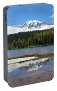 Reflection Lakes In Mount Rainier National Park Portable Battery Charger