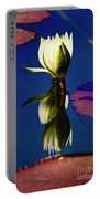 Reflection Of A Water Lily Portable Battery Charger
