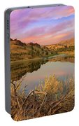 Reflection Of Scenic High Desert Landscape In Central Oregon Portable Battery Charger