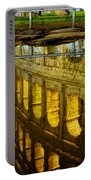 Reflection Of The Colosseum Portable Battery Charger