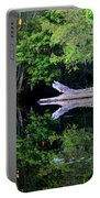 Reflection Off The Withlacoochee River Portable Battery Charger