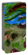 Reflections And Prayer Of St. Francis Portable Battery Charger