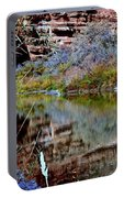 Reflections In Desert River Canyon Portable Battery Charger