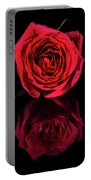 Reflections Of A Red Rose Portable Battery Charger