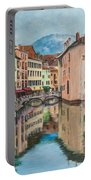 Reflections Of Annecy Portable Battery Charger
