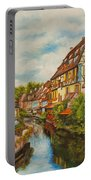 Reflections Of Colmar Portable Battery Charger by Charlotte Blanchard