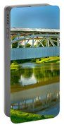 Reflections Of The Halls Mill Covered Bridge Portable Battery Charger