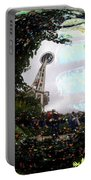 Reflections Of The Space Needle Portable Battery Charger
