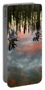 Reflections Off Pond In British Columbia Portable Battery Charger