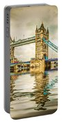Reflections On Tower Bridge Portable Battery Charger