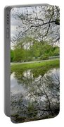 Reflective Field In Spring Portable Battery Charger