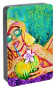 Moment In Paradise, Vacation Painting Portable Battery Charger