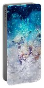 Reindeer And Owls Holiday Celebration Portable Battery Charger