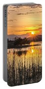 Rejoicing Easter Morning Skies Portable Battery Charger