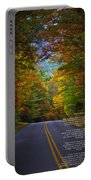 Relief Road  Blue Ridge Parkway Portable Battery Charger by John Haldane