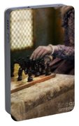 Renaissance Lady Playing Chess Portable Battery Charger