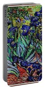 replica of Van Gogh irises Portable Battery Charger