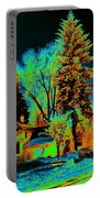 Residential Spokane In Cosmic Winter Portable Battery Charger