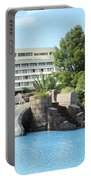 Resort With Swimming Pool Summer Vacation Scene Portable Battery Charger
