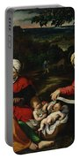 Rest On The Flight Into Egypt Portable Battery Charger