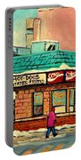 Restaurant Greenspot Deli Hotdogs Portable Battery Charger