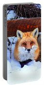 Resting Fox Portable Battery Charger